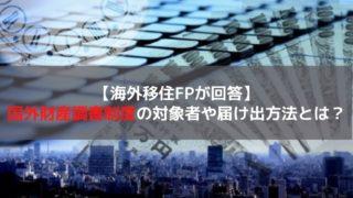 国外財産調書制度